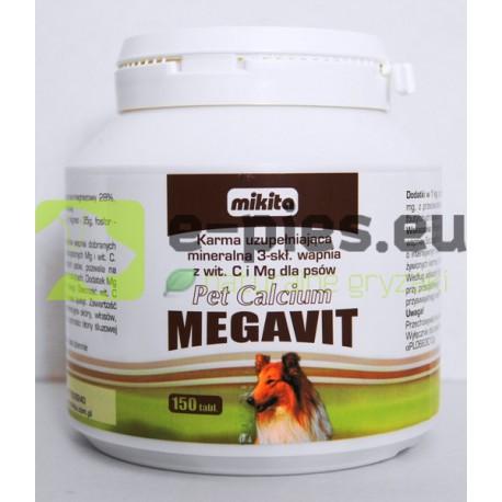 MIKITA - Pet Calcium Megavit 150 tabl. - dla PSA
