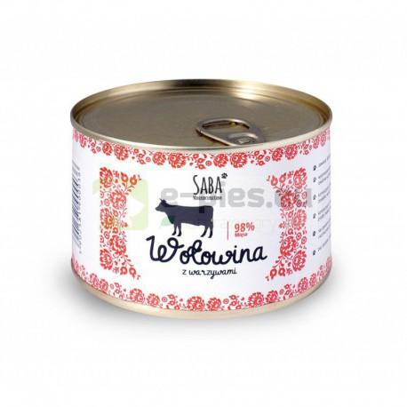 Saba 98% Wołowina z Warzywami + witaminy 440g